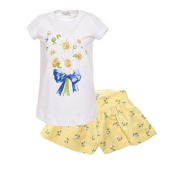 Picture of Monnalisa Yellow Daisy 2 Piece Short Set