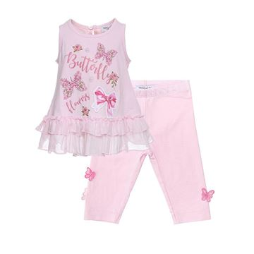 Picture of Monnalisa Butterfly Pink Leggings Set