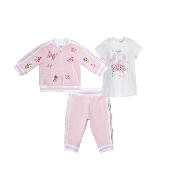 Picture of Monnalisa Butterfly Pink Tracksuit