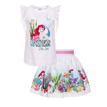 Picture of Monnalisa 'Ariel' Print Top & Skirt Set