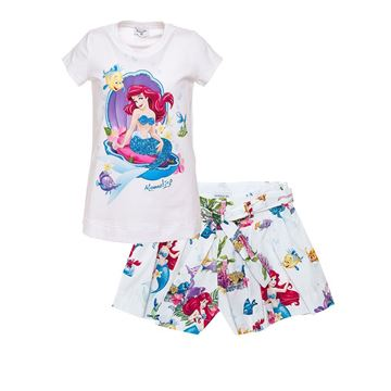 Picture of Monnalisa 'Ariel' Print Top & Shorts Set