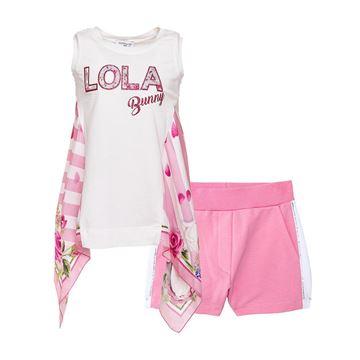 Picture of Monnalisa 'Lola' Pink Short Set