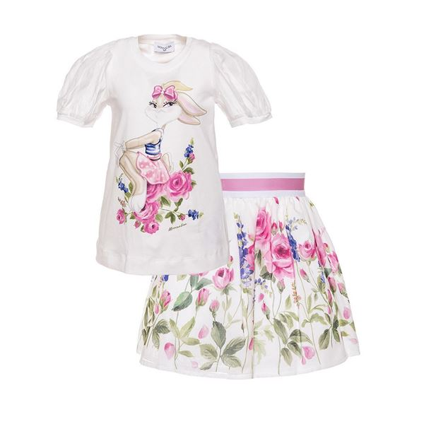 Picture of Monnalisa 'Lola' Pink Skirt Set