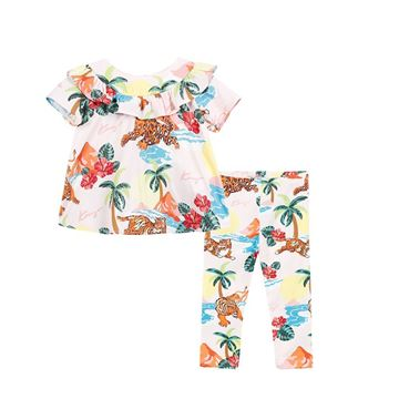 Picture of Kenzo Baby Girl Printed Leggings Set