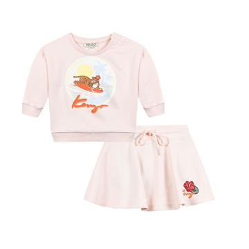 Picture of Kenzo Baby Girl Pink Skirt Set