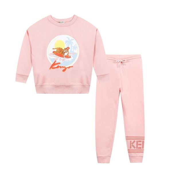 Picture of Kenzo Girls Pink Tracksuit