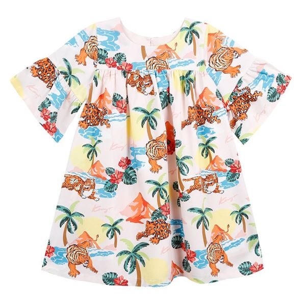 Picture of Kenzo Girls Jungle Print Dress