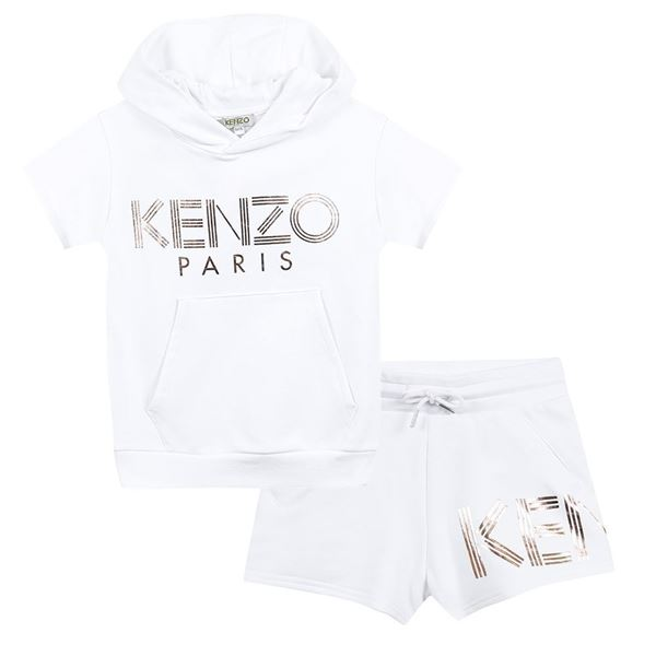 Picture of Kenzo Girls White Short Set