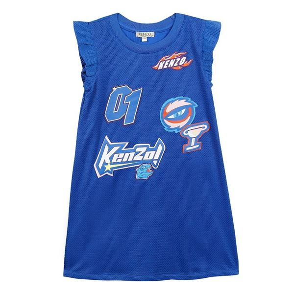 Picture of Kenzo Girls Racing Blue Dress