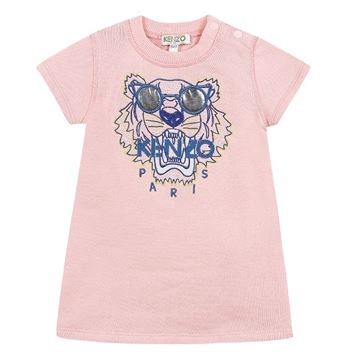 Picture of Kenzo Girls Pink Tiger Dress