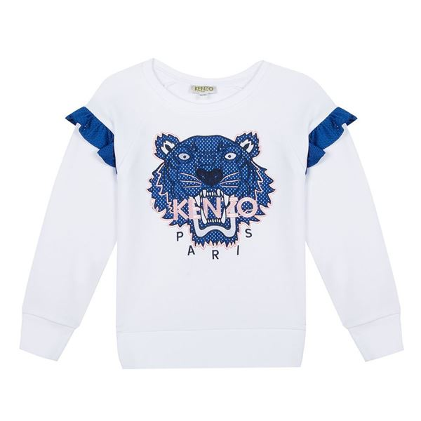 Picture of Kenzo Girls White Tiger Jumper