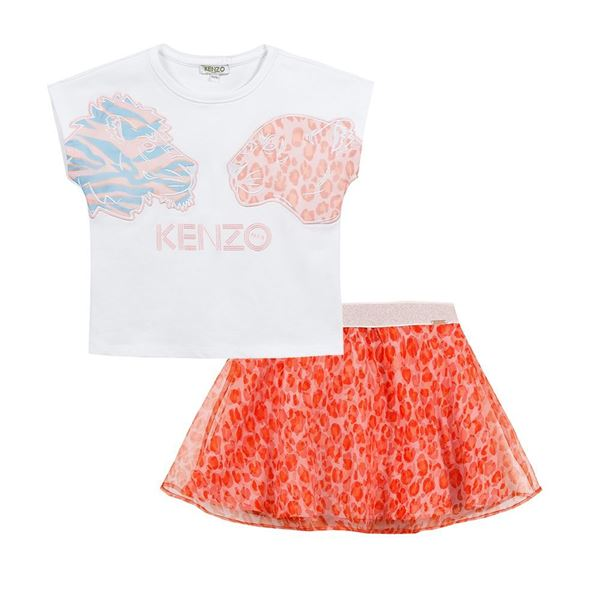 Picture of Kenzo Girls Tiger Skirt Set