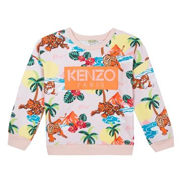 Picture of Kenzo Girls Jungle Print Jumper