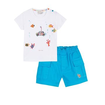 Picture of Paul Smith Baby Sea T-Shirt & Shorts