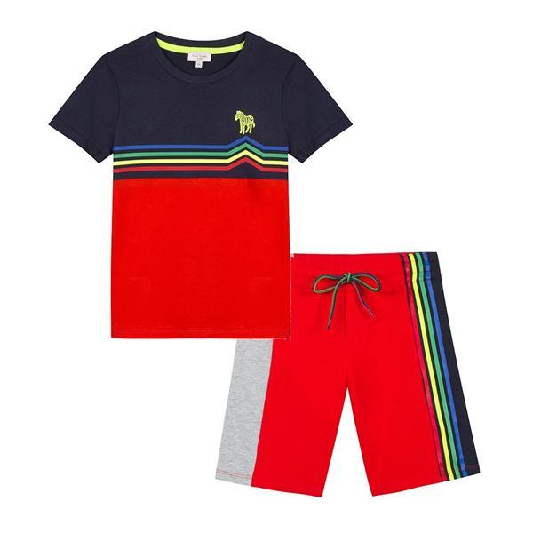 Picture of Paul Smith Red T-Shirt & Short Set