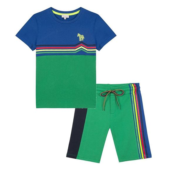 Picture of Paul Smith Green T-Shirt & Shorts Set
