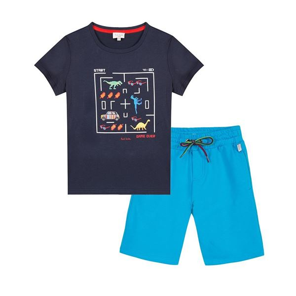 Picture of Paul Smith Navy T-Shirt & Shorts Set