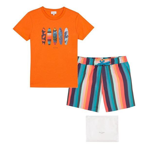 Picture of Paul Smith Orange T-Shirt & Swim-shorts