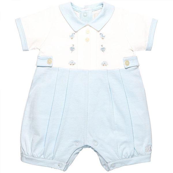 Picture of Emile Et Rose 'Pollard' Baby Blue Romper