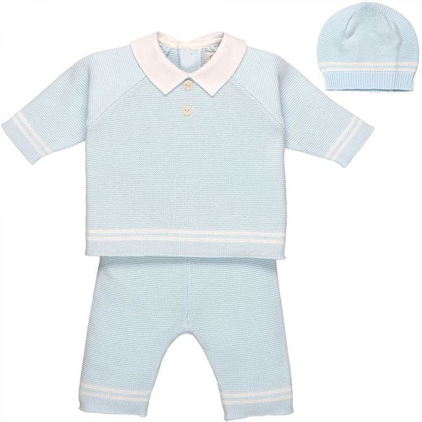 Picture of Emile Et Rose 'Peter' Baby Blue Knitted Suit