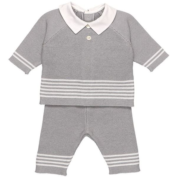 Picture of Emile Et Rose 'Peter' Grey Knitted 2 Piece Set