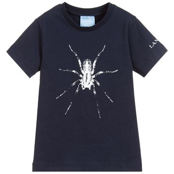 Picture of Lanvin Navy Spider T-Shirt