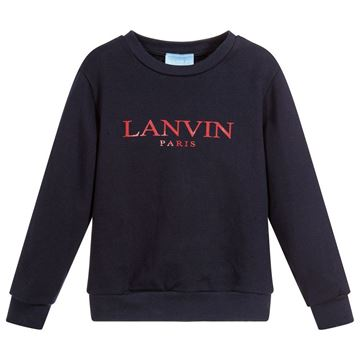 Picture of Lanvin Navy Logo Jumper