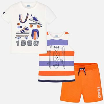 Picture of Mayoral Orange 3 Piece Sport Set