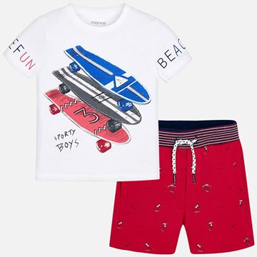 Picture of Mayoral Red 2 Piece Beach Set
