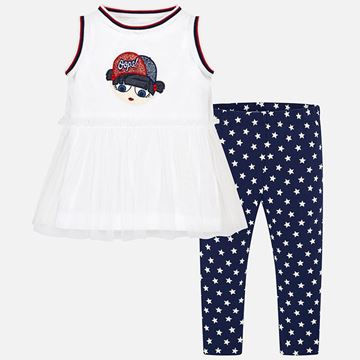 Picture of Mayoral Star Print 2 Piece Leggings Set