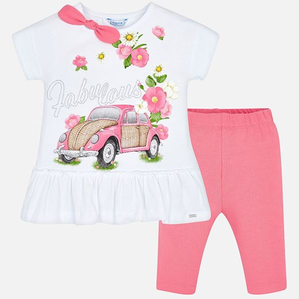 Picture of Mayoral 'Fabulous' Pink 2 Piece Leggings Set