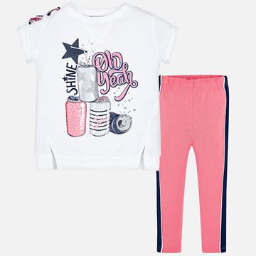 Picture of Mayoral Pink 2 Piece Leggings Set