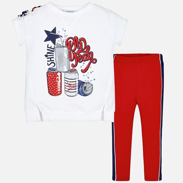 Picture of Mayoral Red 2 Piece Leggings Set