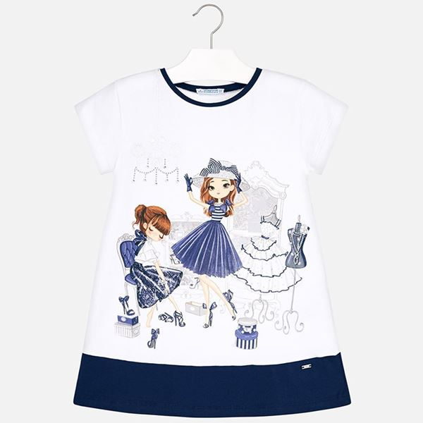 Picture of Mayoral Dolls Navy Dress