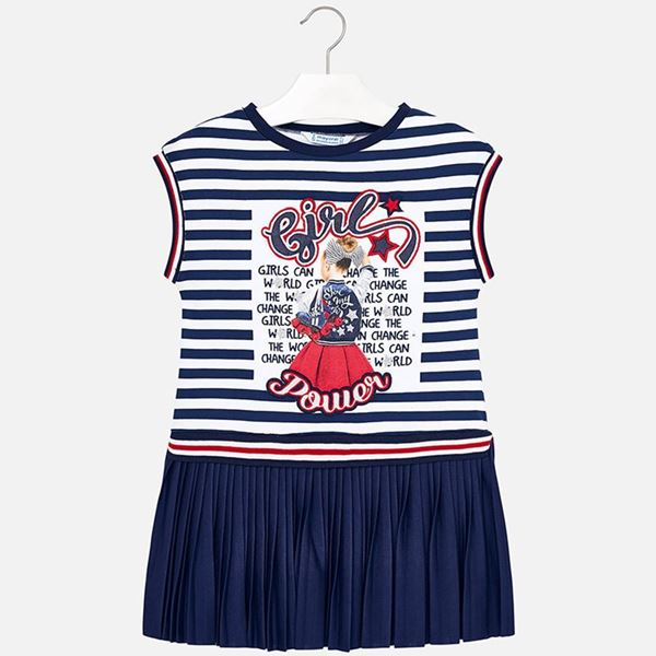 Picture of Mayoral Navy Stripe Dress