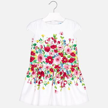 Picture of Mayoral White Floral Dress