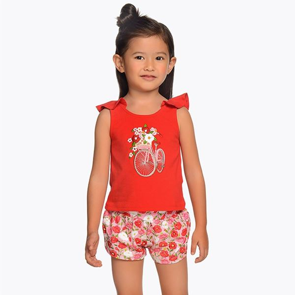 Picture of Mayoral Red Bicycle Short Set