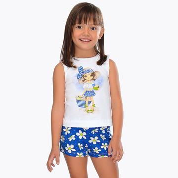 Picture of Mayoral Blue Girl Short Set