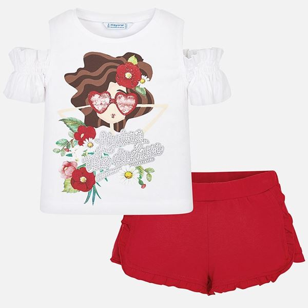 Picture of Mayoral Red Girl Short Set