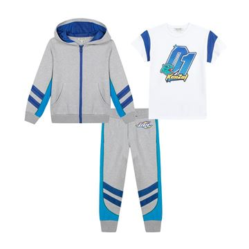 Picture of Kenzo Boys Grey 3 Piece Tracksuit