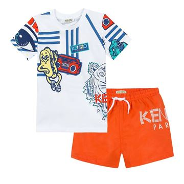 Picture of Kenzo Boys Tiger Print Swim Set