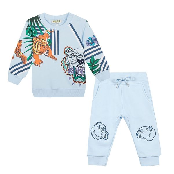 Picture of Kenzo Baby Blue Tiger Tracksuit