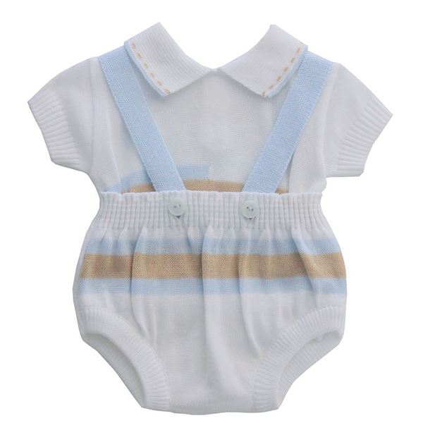 Picture of Pretty Originals Boys Knitted White Romper