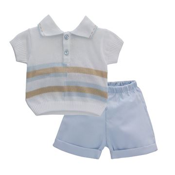 Picture of Pretty Originals Boys 2 Blue Piece Set