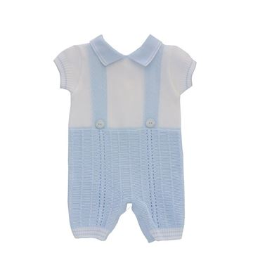 Picture of Pretty Originals Boys White Knitted Romper