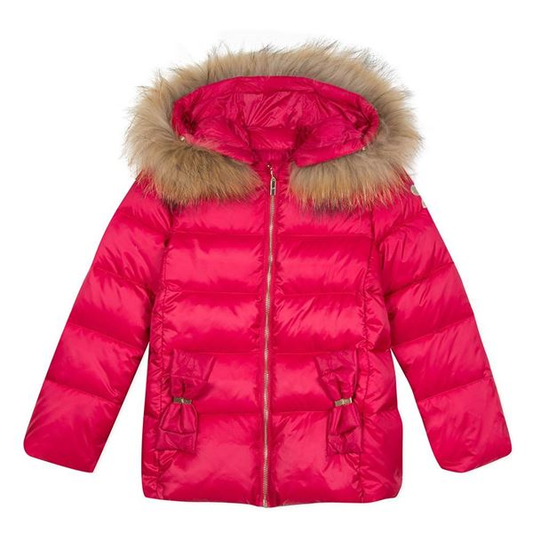 Picture of Lili Gaufrette Fushia Pink Coat With Fur Hood