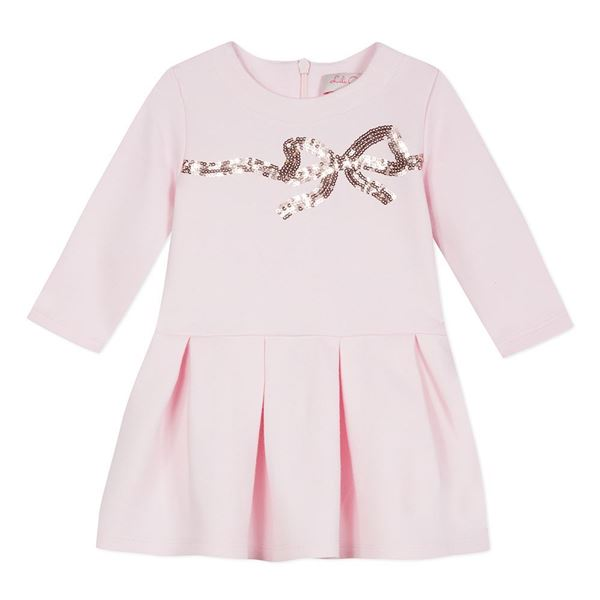 Picture of Lili Gaufrette Pink Bow Dress
