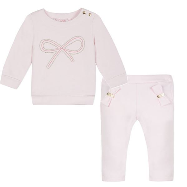 Picture of Lili Gaufrette Pink Bow Set