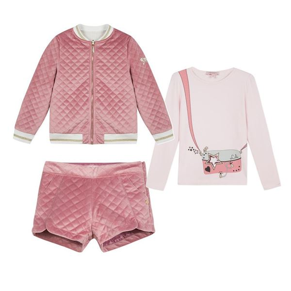 Picture of Lili Gaufrette Pink 3 Piece Suit