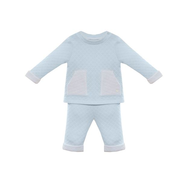 Picture of Patachou Baby 2 Piece Pale Blue Tracksuit